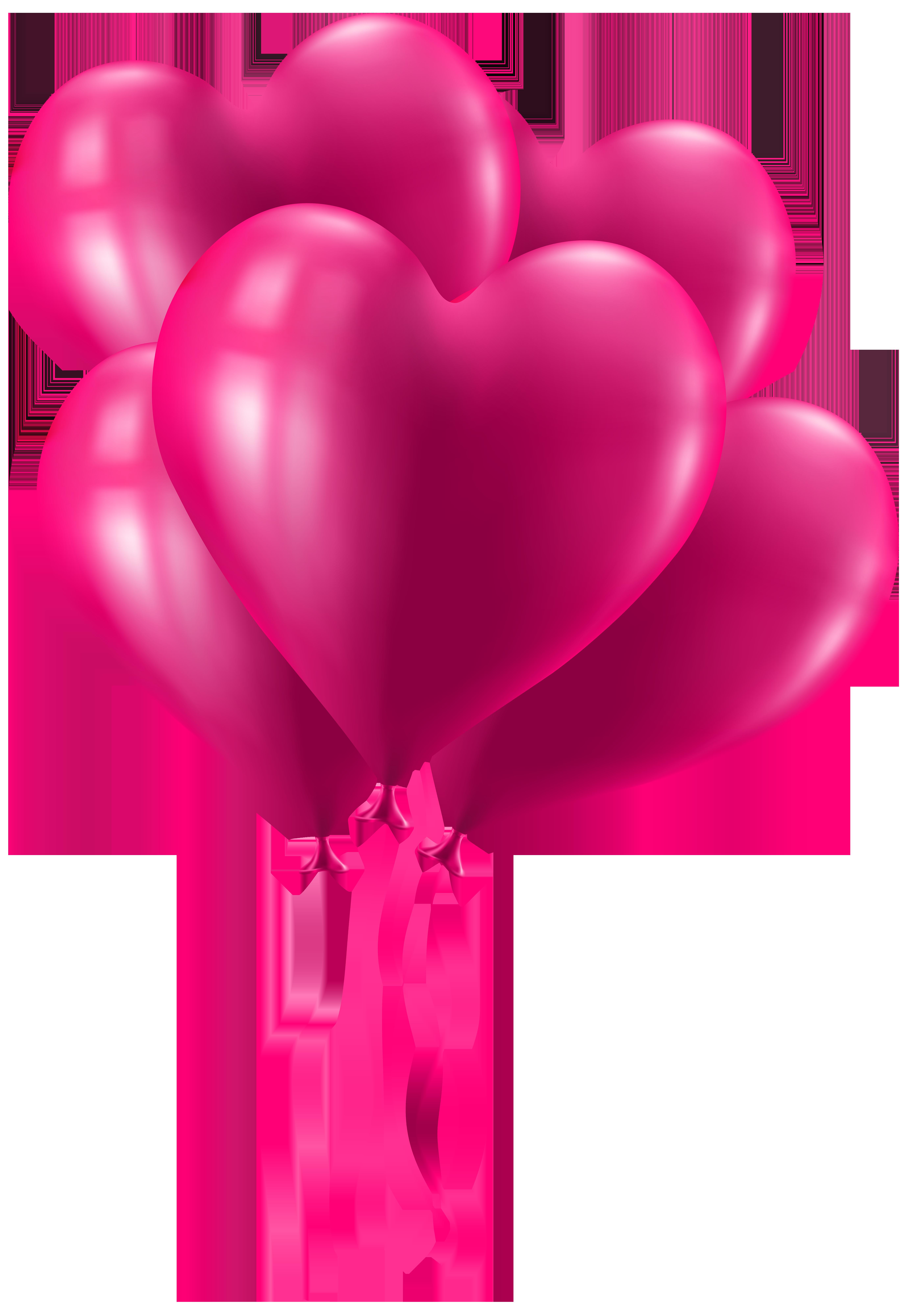 5521x8000 Valentine's Day Pink Heart Balloons Clip Art Imageu200b Gallery