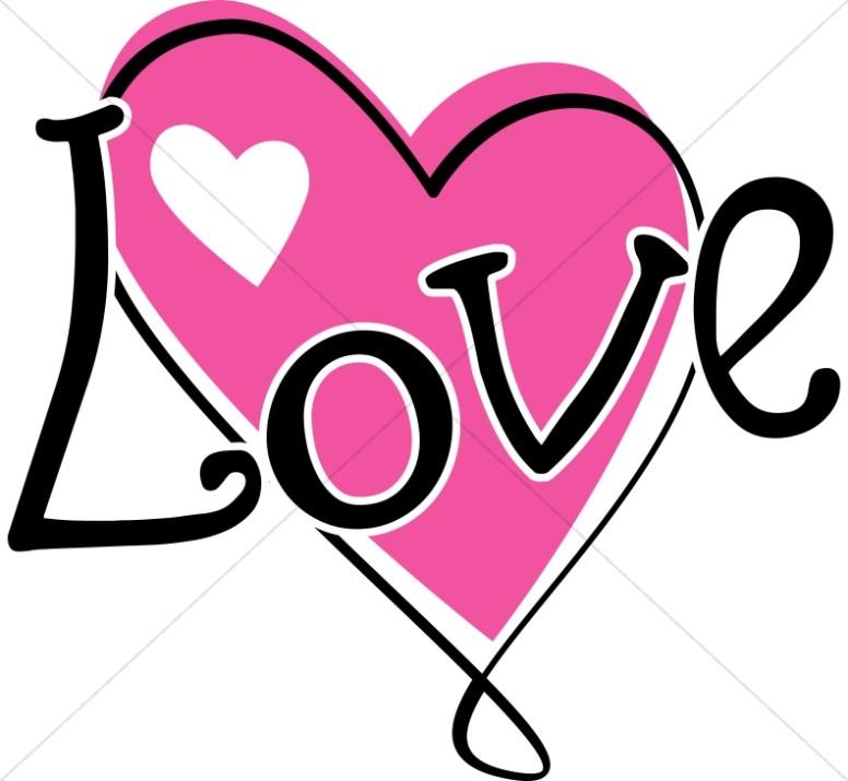 776x715 Twisty Pink Love Heart Valentines Day Clipart