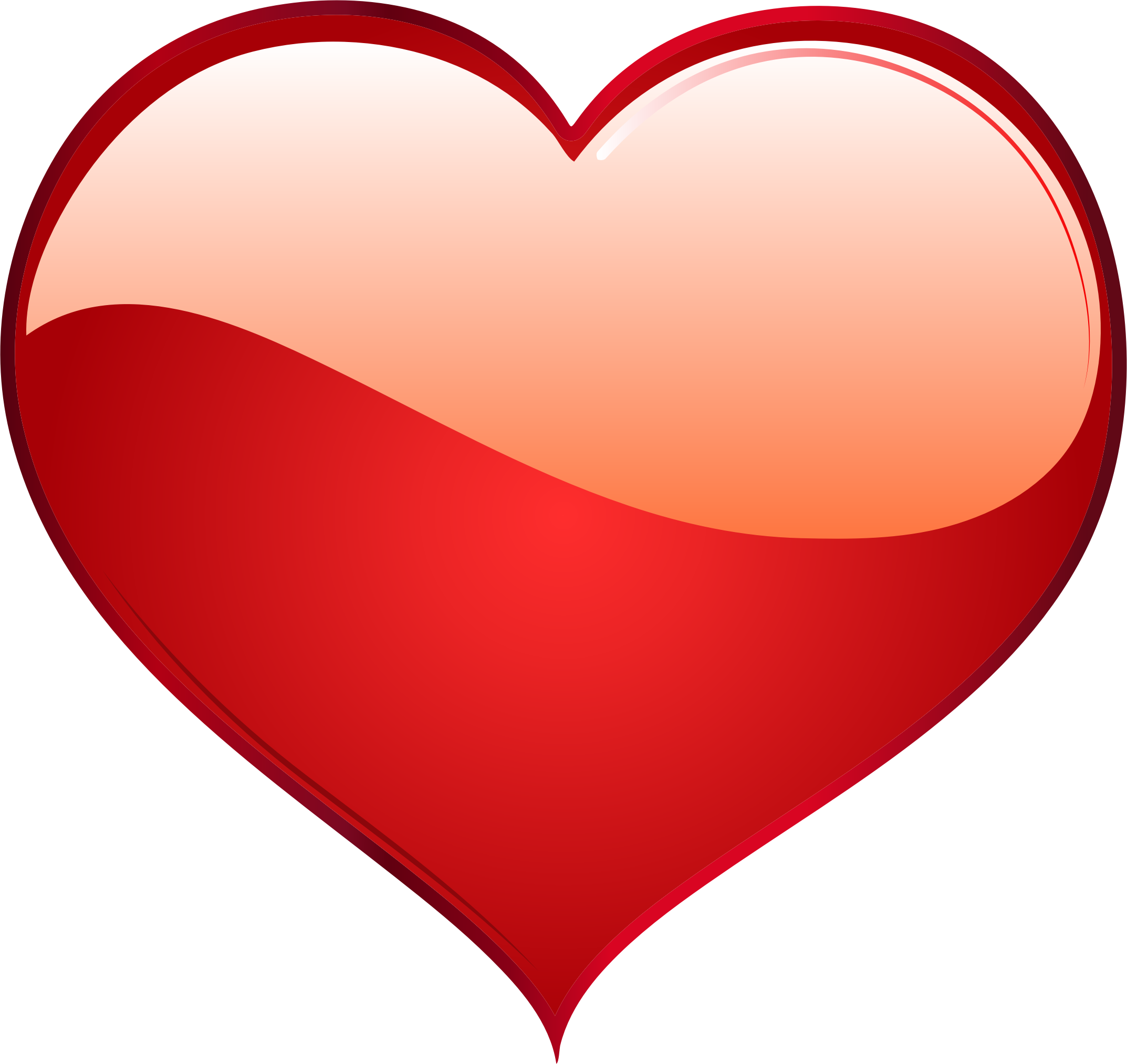 2146x2026 Shiny Red Heart Icons Png