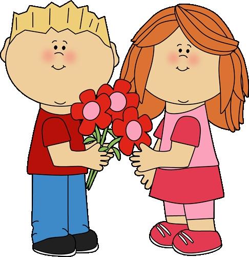 486x500 Giving Flowers Clipart Kids With Valentines Day Flowers Clip Art