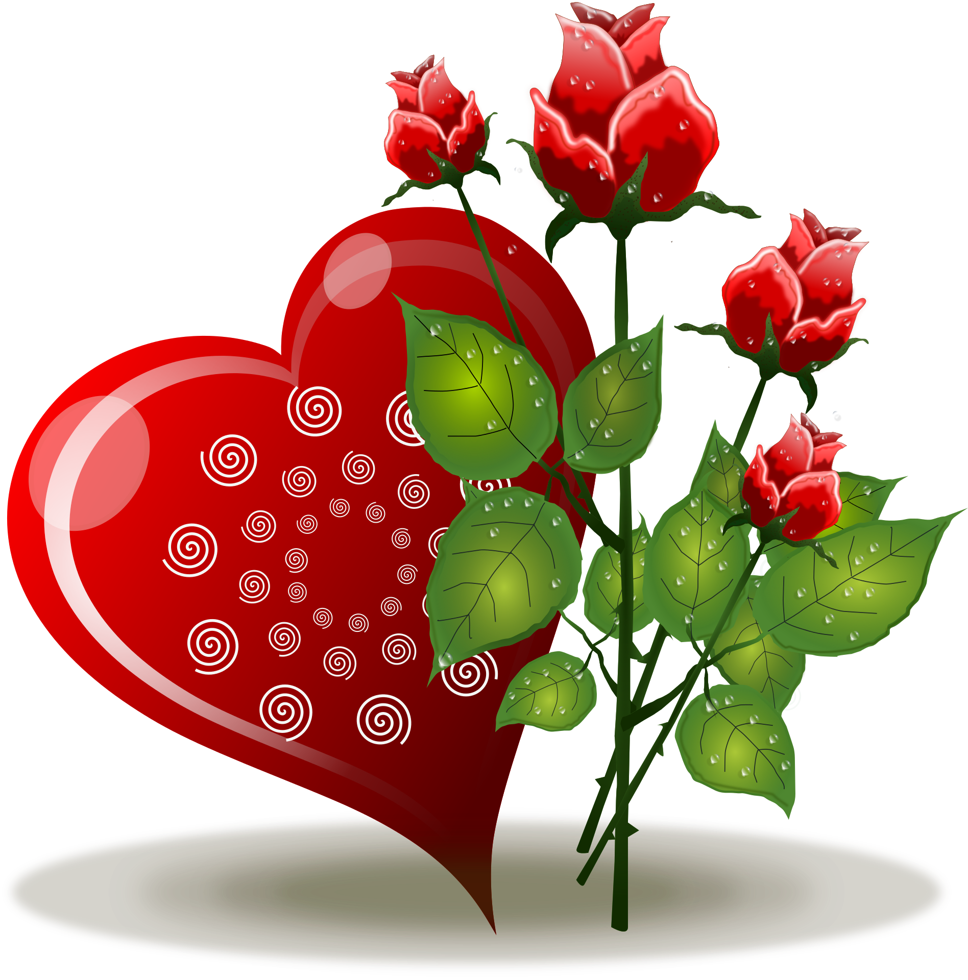 valentines day roses clipart at getdrawingscom free for