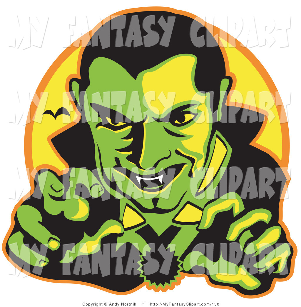 1024x1044 Clip Art Of A Smiling Male Vampire With Dark Hair Slicked Back