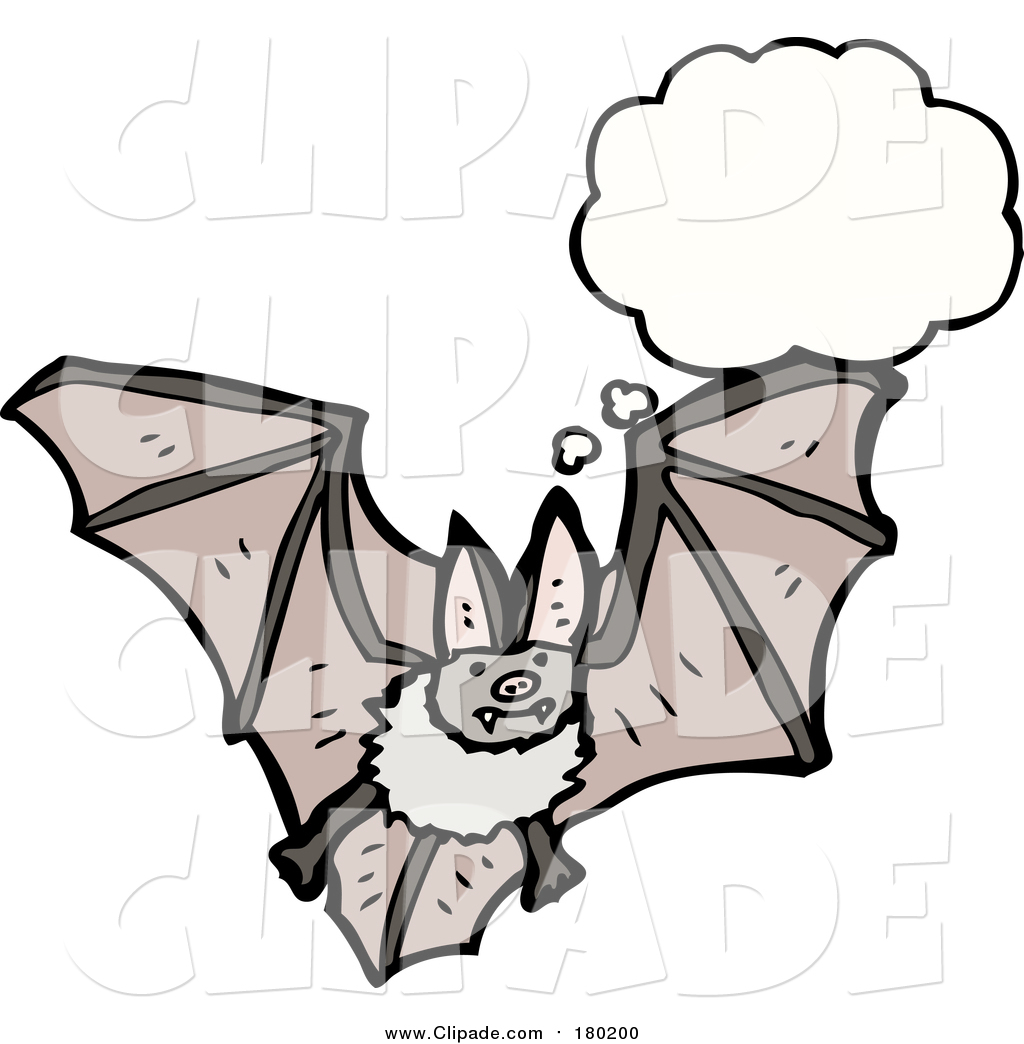 1024x1044 Clip Art Of A Thinking Vampire Bat By Lineartestpilot