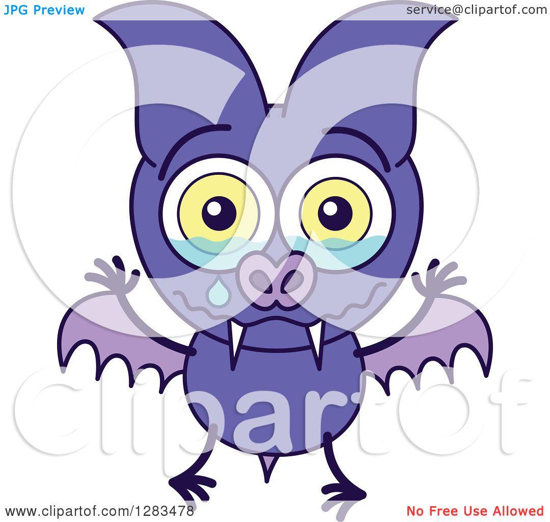 1080x1024 Clipart Of A Sad Crying Purple Vampire Bat