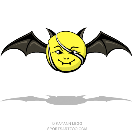450x450 Vampire Tennis Ball Bat Sportsartzoo