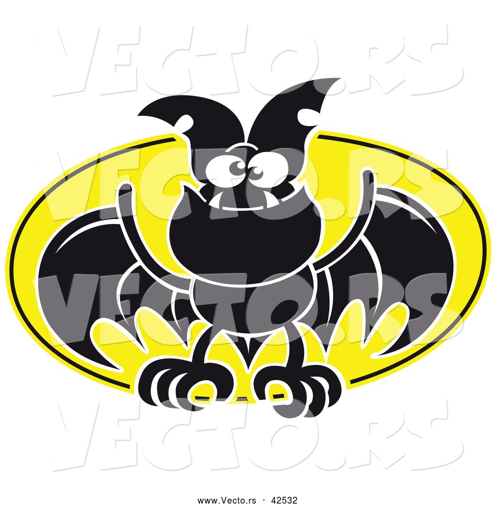 1024x1044 Vector Of A Flying Cartoon Bat Against A Full Moon By Zooco