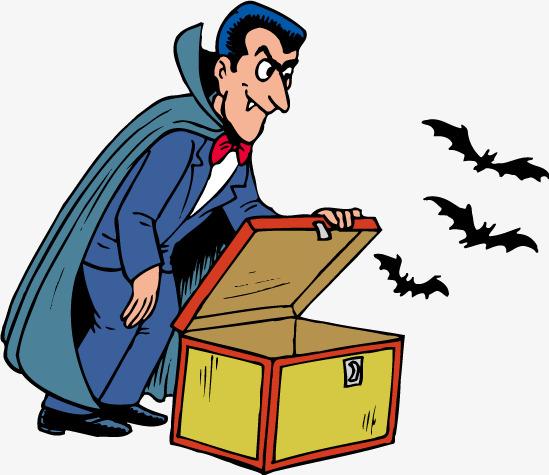 549x475 Cartoon Vampire Bat Vector Wooden Box, Vampire, Bat, Box Png
