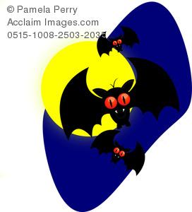 272x300 Clip Art Image Of A Cartoon Vampire Bats For Halloween