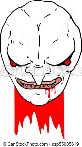262x470 Creative Design Of Beheaded Vampire Draw Vector Clip Art