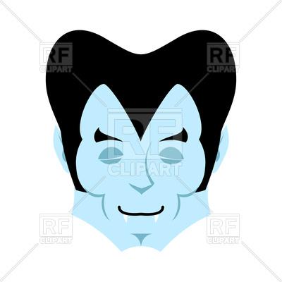 400x400 Dracula Sleeps Emoji. Vampire Face. Royalty Free Vector Clip Art