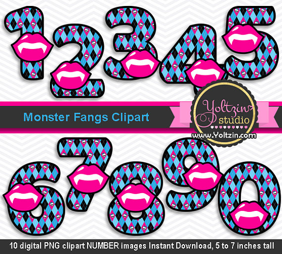 570x513 Monster High Clipart Numbers, Monsters Clipart Pink Blue Age, My