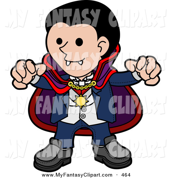 600x620 Clip Art Of A Spooky Dracula Vampire In A Cape, Reaching His Hands