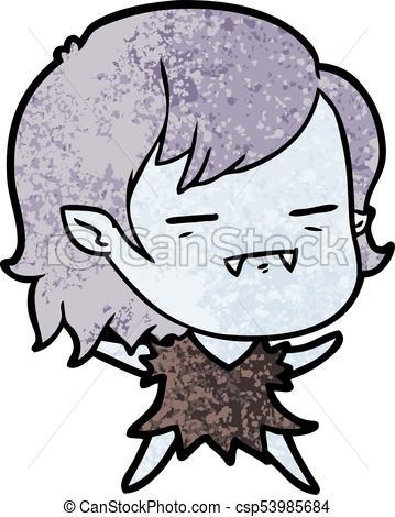 359x470 Cartoon Undead Vampire Girl Vector