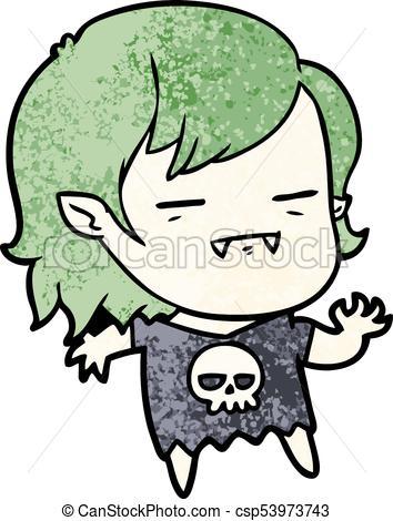 354x470 Cartoon Undead Vampire Girl Eps Vector