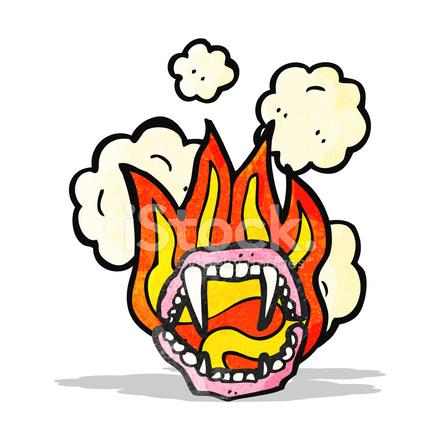 440x440 Scary Vampire Teeth Cartoon Stock Vector