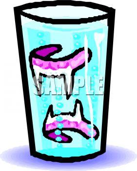 281x350 Vampire's False Teeth Soaking In A Glass
