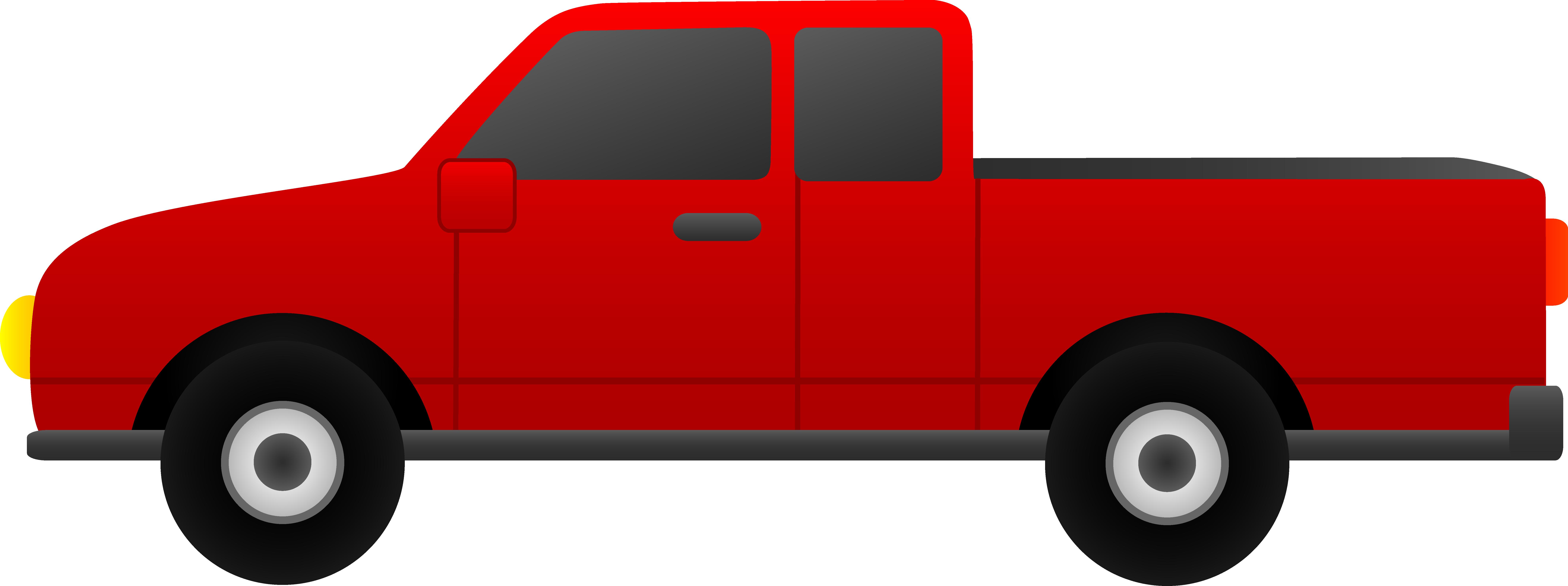 8576x3207 Clipart Of Pickup Trucks