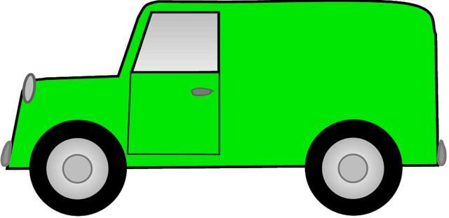 640x311 Delivery Van Clipart Clipart Panda