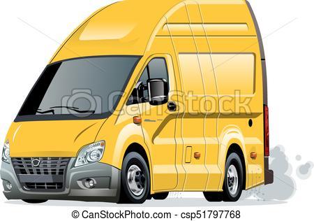 450x316 Vector Cartoon Van. Cartoon Van Isolated On White Clip Art