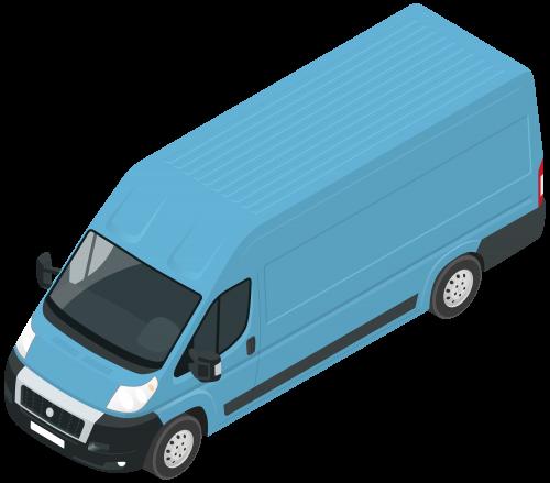 500x439 Blue Van Png Clip Art