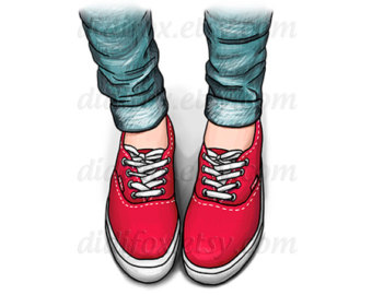 340x270 Jeans And Sneakers Clipart