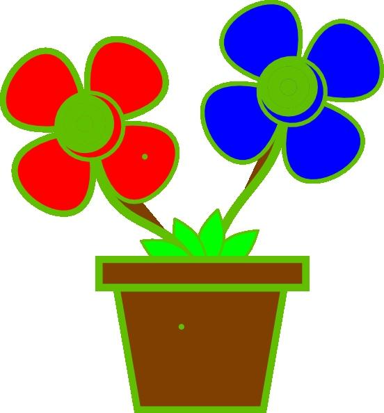 552x594 Clipart Of Flower Vase
