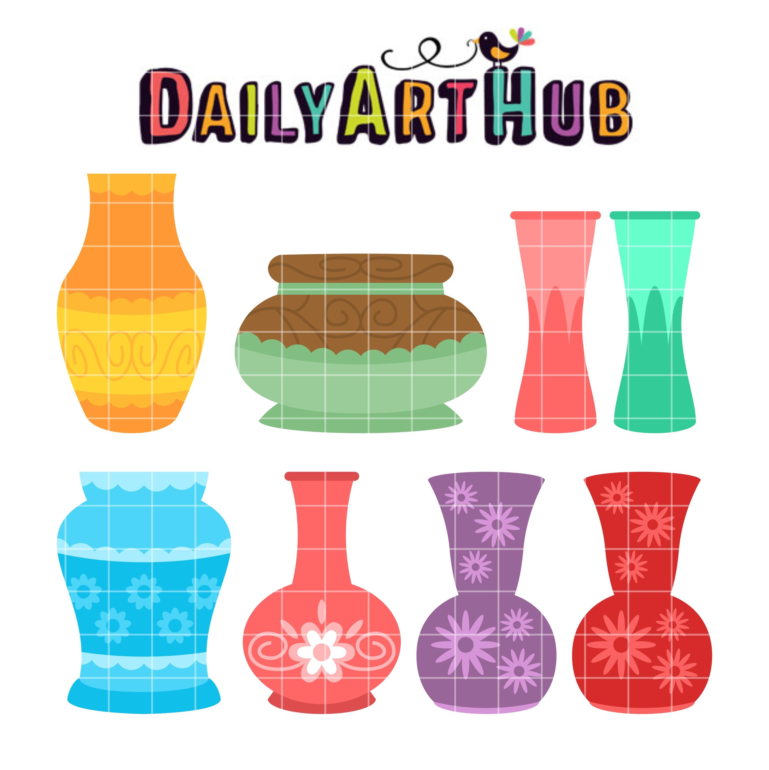2664x2670 Empty Flower Vases Clip Art Set Daily Art Hub Free Clip Art