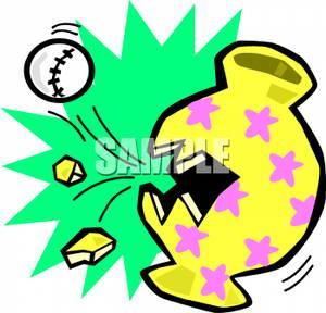300x288 A Baseball Smashing Into A Vase