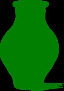 210x296 Green Vase Clip Art