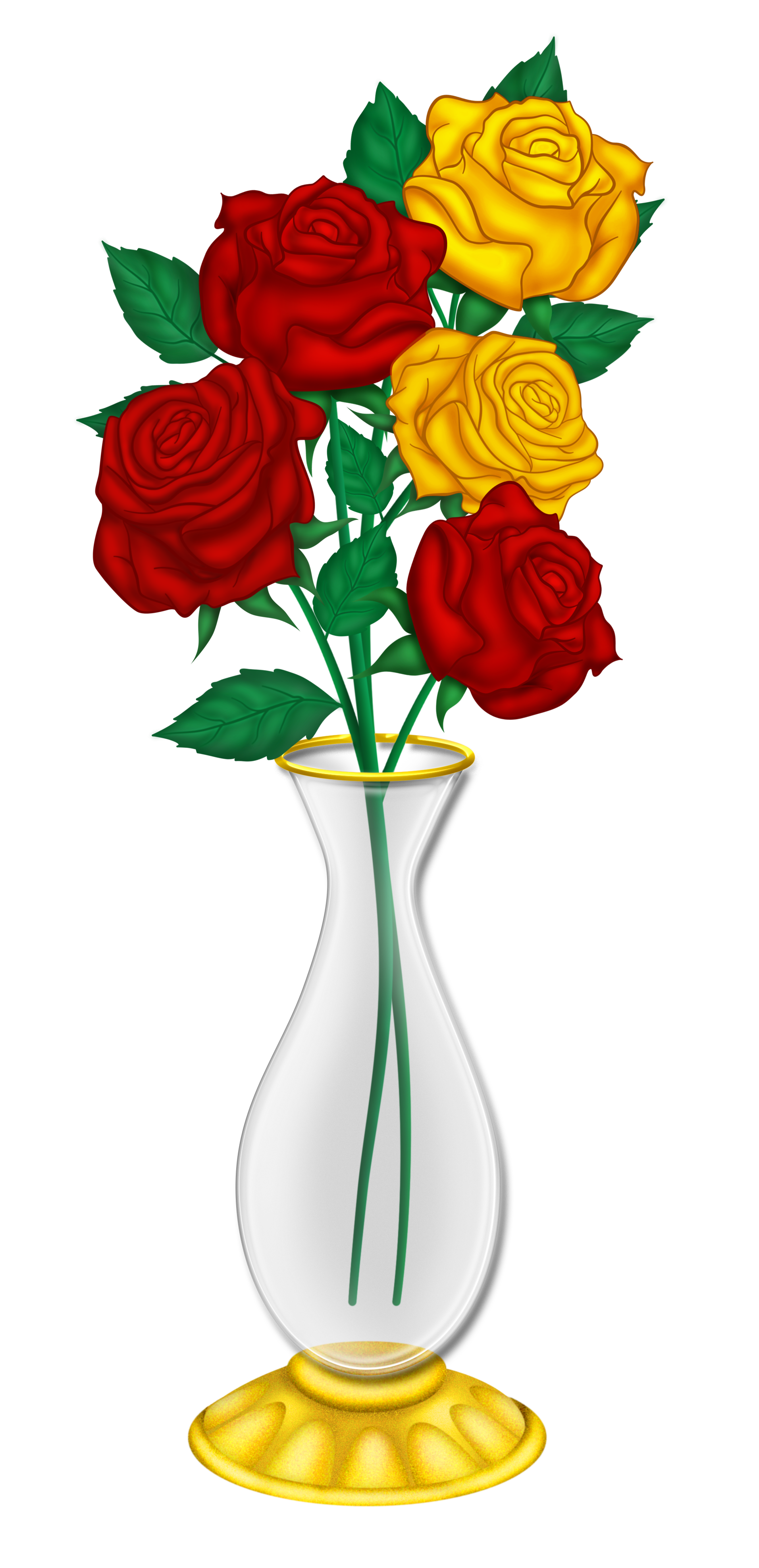1912x3952 Beautiful Vase With Red And Yellow Roses Png Pictureu200b Gallery