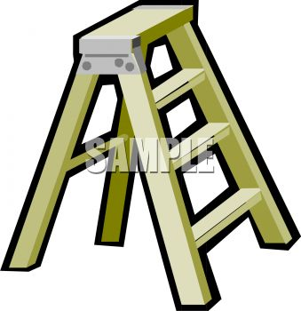 339x350 Picture Of A Short Step Ladder In A Vector Clip Art Illustration