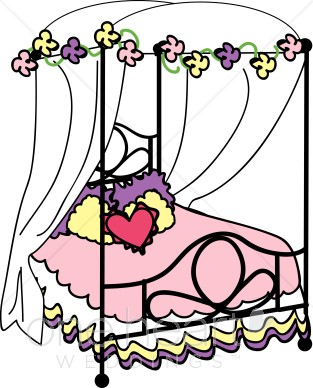 313x388 Nuptial Bed Clipart Honeymoon Clipart