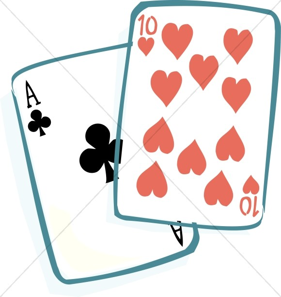 580x612 Ace Of Clubs And Ten Of Hearts Christian Senior Clipart