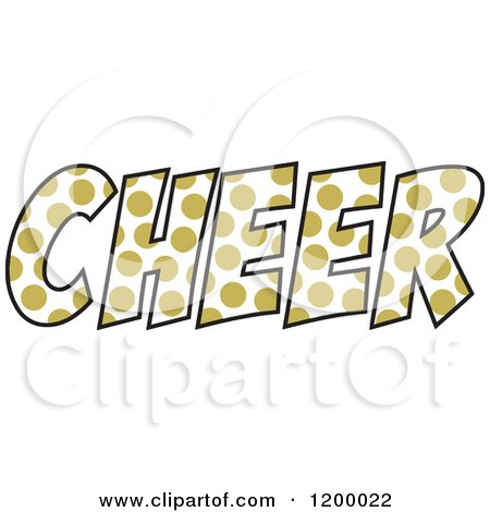 450x470 Clipart Of A Vegas Gold Polka Dot Cheer