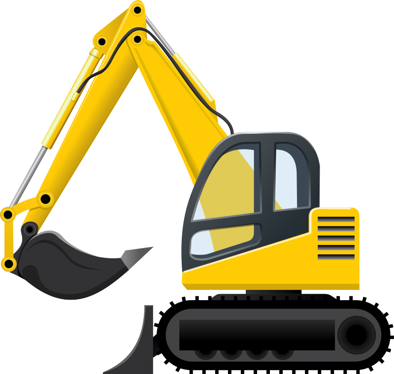 800x760 Excavator Clip Art Images Free For Commercial Use Construction