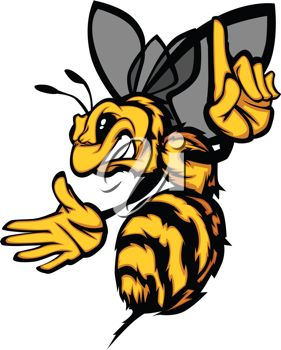 281x350 Picture Of An Angry Cartoon Yellow Jacket With His Finger Pointing