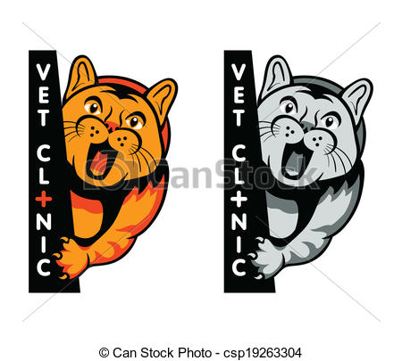 450x405 Vet Clinic Symbol. Veterinary Clinic Symbol With Yelling Cat