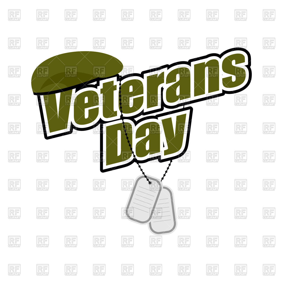 1200x1200 Veterans Day. Text With Army Token And Green Soldier Beret