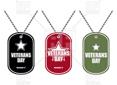 400x290 Set Of Army Badge With Inscription Veterans Day Royalty Free
