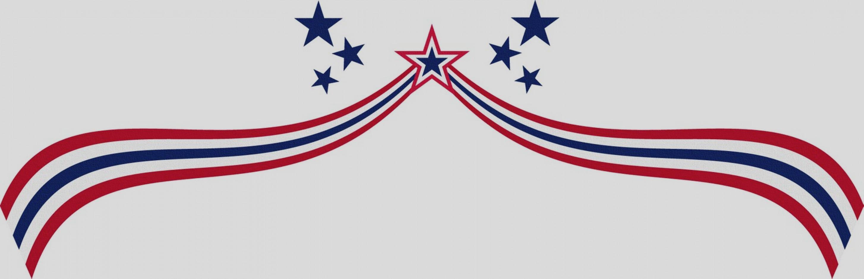 2909x940 4th Of July Flag Clip Art Free Printable