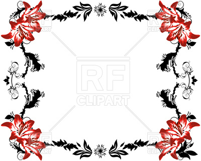 400x320 Abstract Floral Frame In Victorian Style Royalty Free Vector Clip