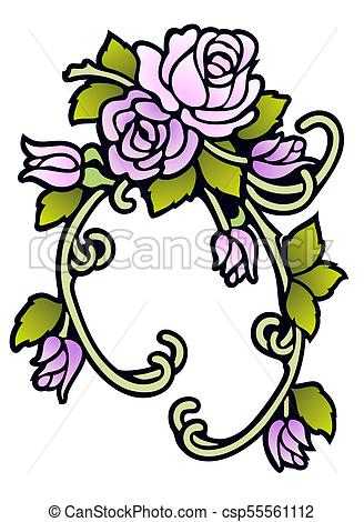 328x470 Neo Victorian Rose Ornament. Swag Of Roses In Vintage Colors