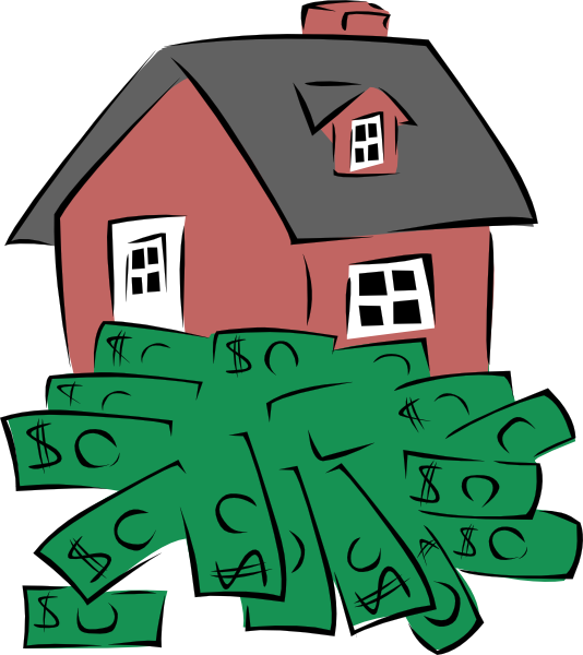 534x600 House Sitting On A Pile Of Money Clip Art Free Vector 4vector