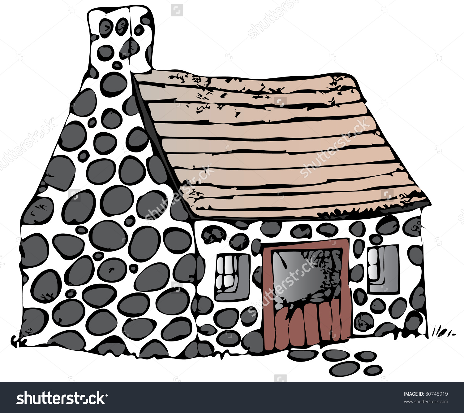 1500x1333 Stone House Clipart