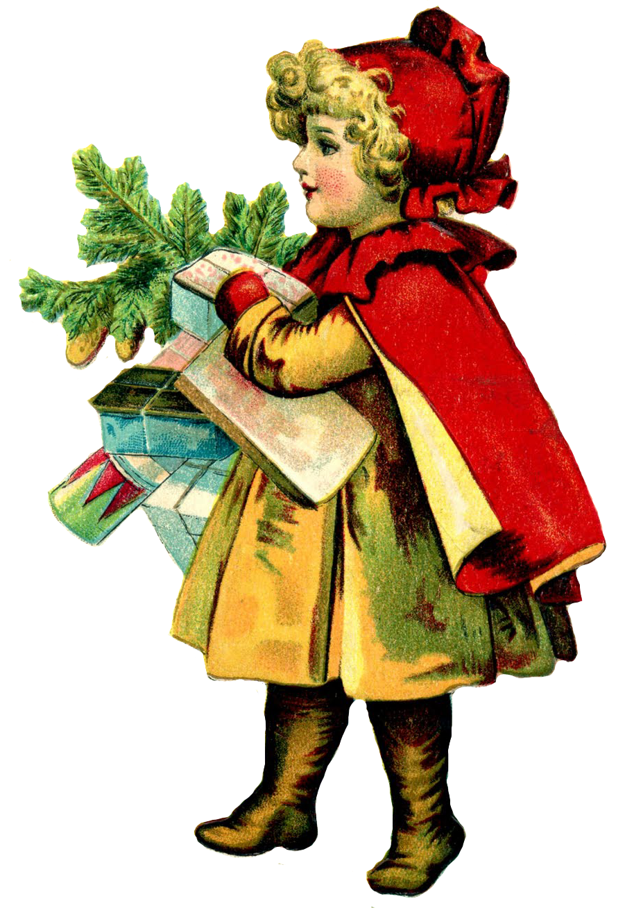 901x1308 Victorian Christmas Images Clip Art Happy Holidays!
