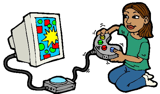 512x300 Video Game Clipart Girl