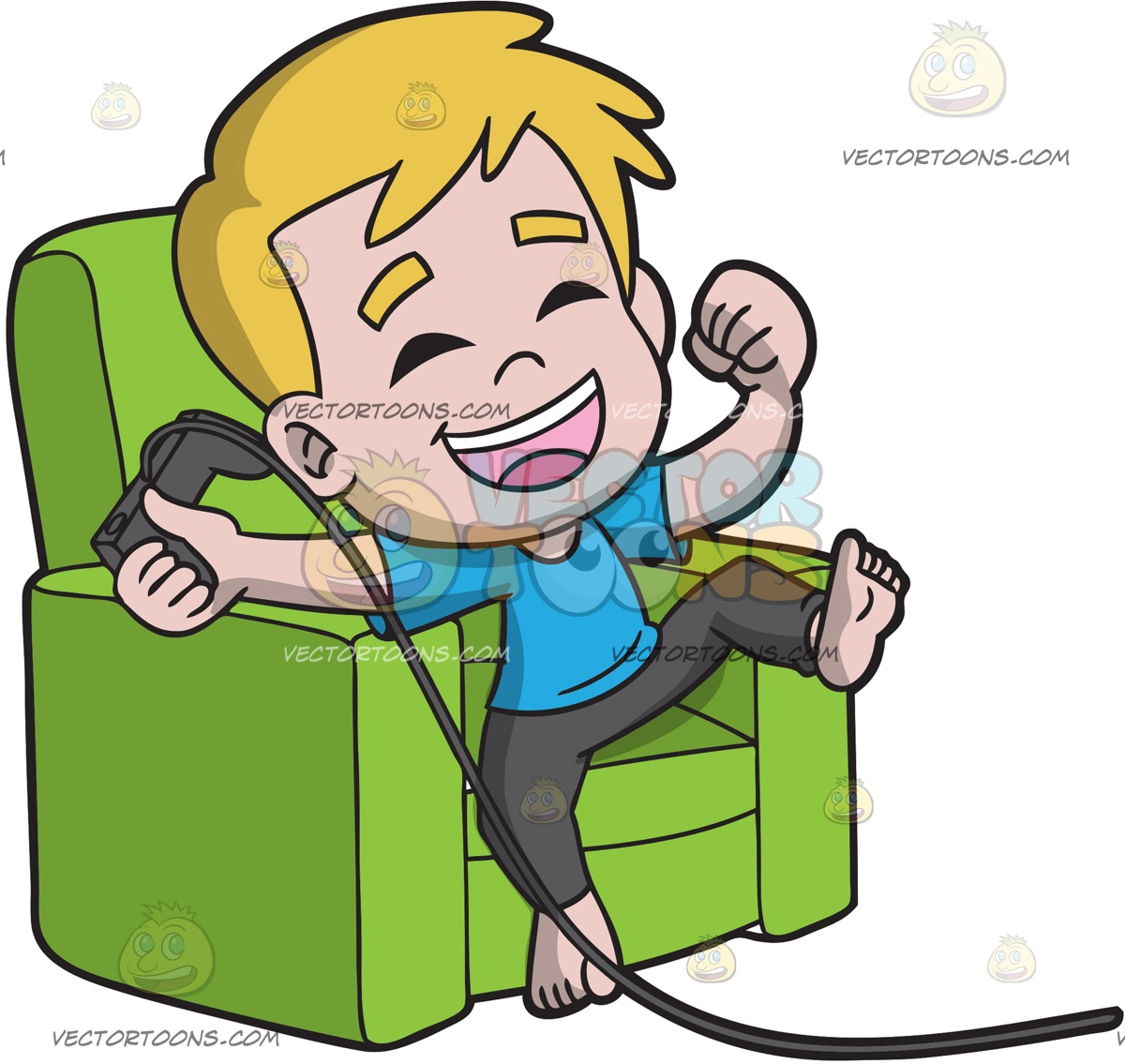 1200x1135 A Happy Kid Playing A Video Game Cartoon Clipart Vector Toons