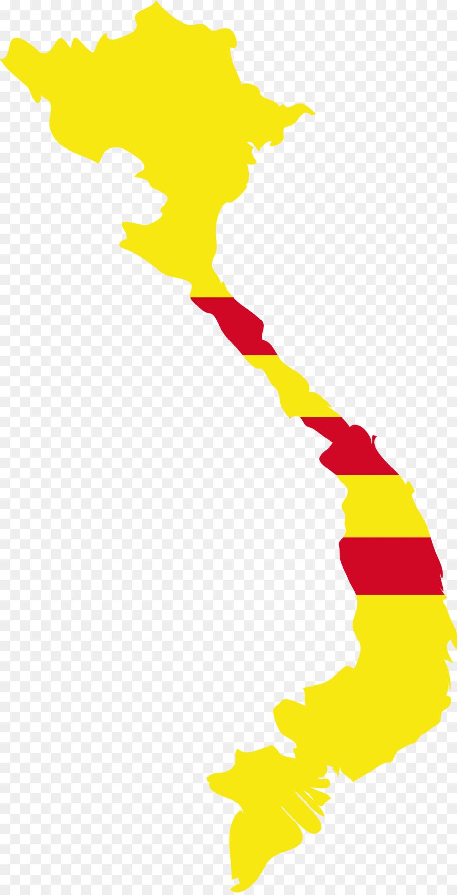 900x1760 Flag Of Vietnam Map Clip Art