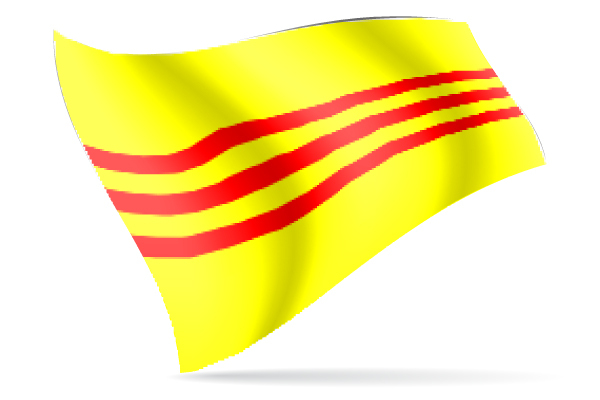 600x400 South Vietnam Large Collector Flag