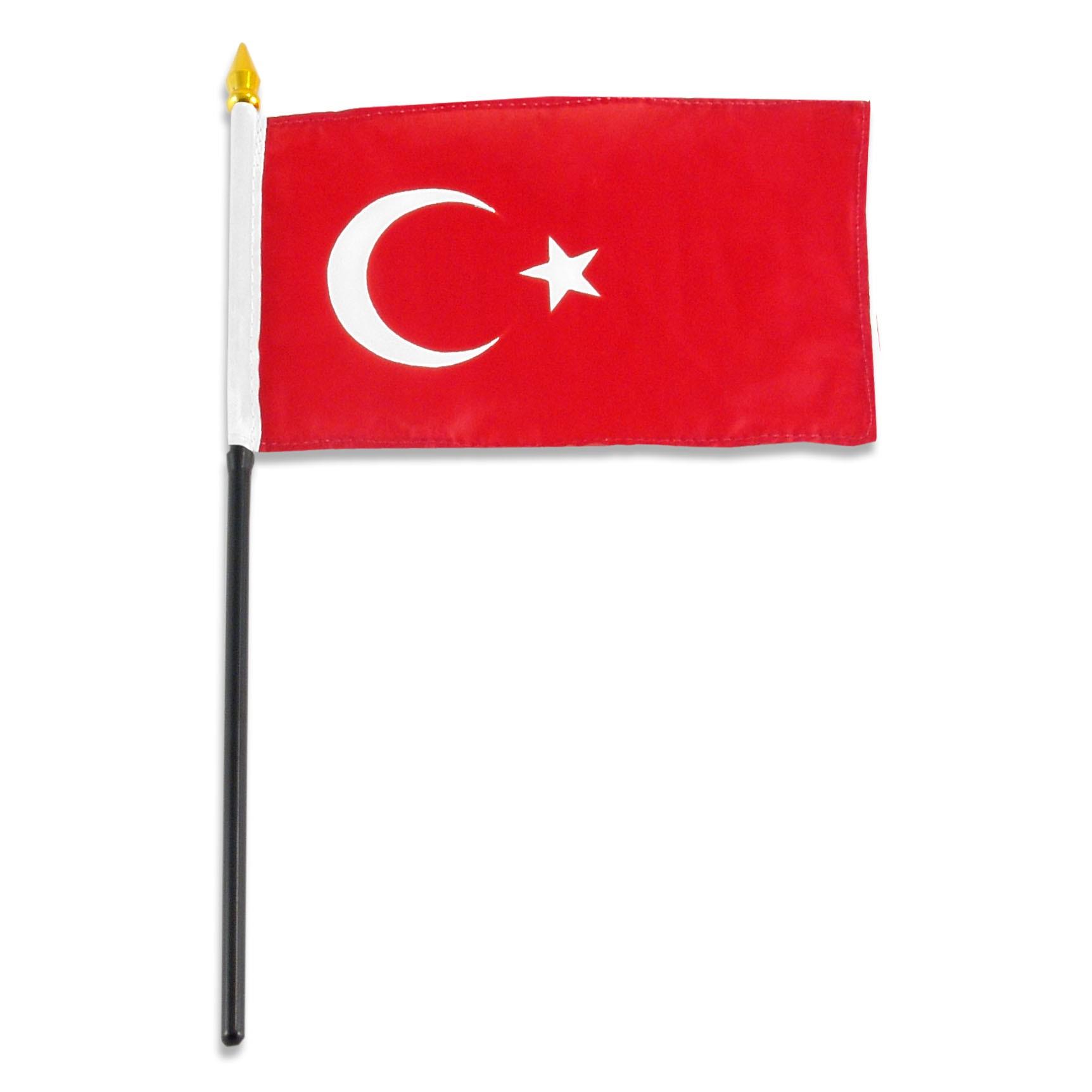 1724x1724 Turkey Flag 4 X 6 Inch
